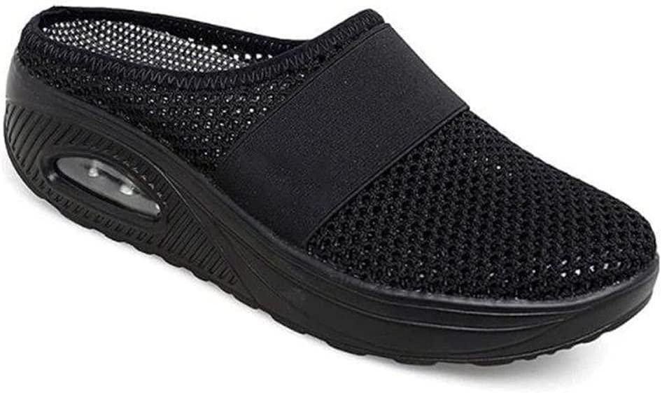 LQLQ Air Cushion Slip-On Walking Shoes, Women Diabetic Walking S