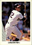 1990 Leaf Baseball Card #10 Carlton Fisk