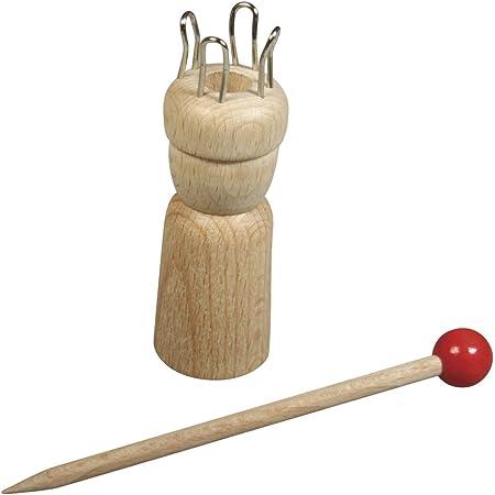 """Rayher tricotin en bois avec aiguille €"""" tricotin laine fine pour créer et tricoter des figurines et formes en laine €"""" tricotin manuel €"""" beige"""
