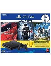 Sony PlayStation 4 Slim 500 GB Bundle with Drive Club Uncharted 4 Horizon