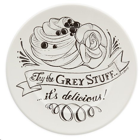 Disney World Be Our Guest Grey Stuff Dessert Plate, New Fantasyland