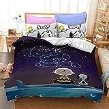 QWAS Bettwäsche Snoopy Pattern Series Bettbezug...