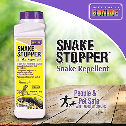 BONIDE PRODUCTS INC Bonide Stopper 8751 Snake Repellent, 1.5 Lb, White Bottle