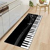 OPLJ Alfombrilla de Puerta con impresión de Letras de Piano...