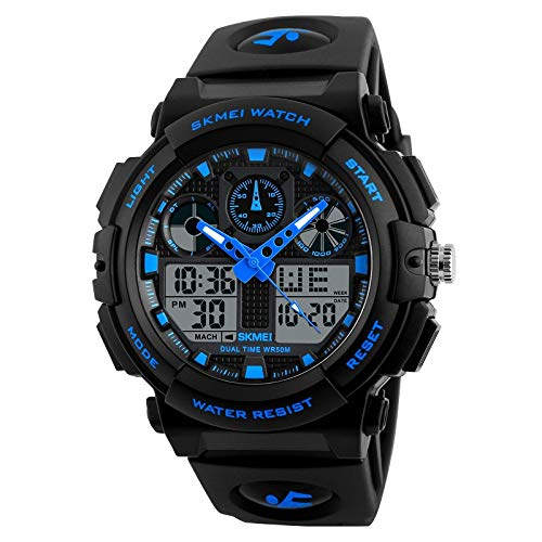 SKMEI Analogue - Digital Men's Watch (Black Dial Black Colored Strap)