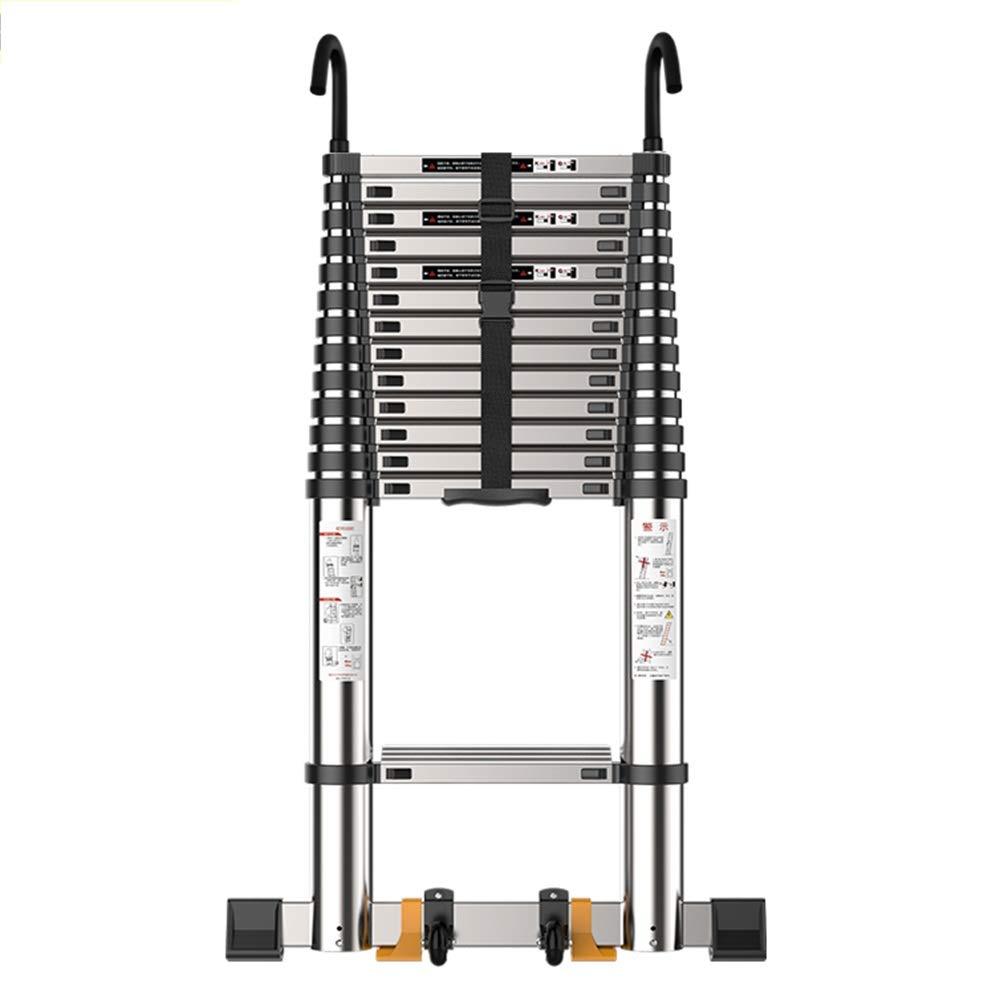 DD Escalera Telescópica,Escalera Recta Plegable Para Hogar-Se Puede Subir Bajar Escaleras, Escalera Ingeniería Escaleras Mecánicas Aluminio Con Gancho (Tamaño : Straight ladder 3.9m(12.79 ft)): Amazon.es: Bricolaje y herramientas