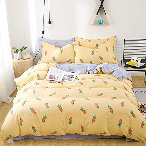 yaonuli Hochwertige Baumwolle vierteilige Baumwolle Laken Bettbezug Studentenwohnheim 2,2 m vierteilig
