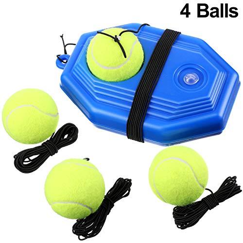 Gejoy 5 Stück Tennis Training Ausrüstung Tennis Trainer Rebounder Ball Trainer Set mit Schnur für Kinder Jugend Anfänger Sport zu Hause Trainieren