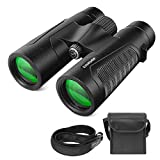 Evershop 12x42 Binoculars for Adults and Kids - Powerful Durable Full-Size Clear Binoculars for Bird Watching, Hunting, Wildlife Watching Outdoor Sports Games Concerts with Low Night Vision