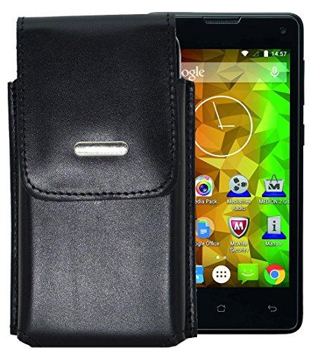 Vertikal Etui für / MEDION LIFE E4503 (MD 99476) / Köcher Tasche Hülle Ledertasche Vertical Hülle Handytasche mit einer Gürtelschlaufe auf der Rückseite