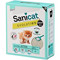 SANICAT Evolution Kitten, Arena de Gato Aglomerante - 6L