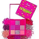 Paleta Neón de Sombras de Ojos 9 Colores Alto Pigmentado Color Brillante Brillo Mate UV Luz Fluorescente Accesorio Cosmético   Pink Punk   7DAYS