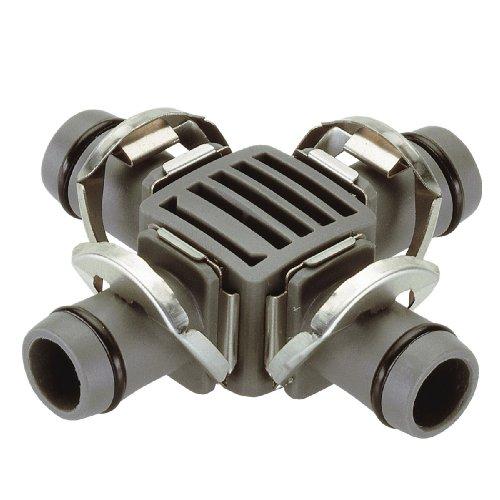 Gardena Micro-Drip-System Kreuzstück 13 mm (1/2 Zoll): Praktischer Rohrverbinder zur Abzweigung des Verlegerohrs (Art.-Nr. 1346, 1347) (8339-20)