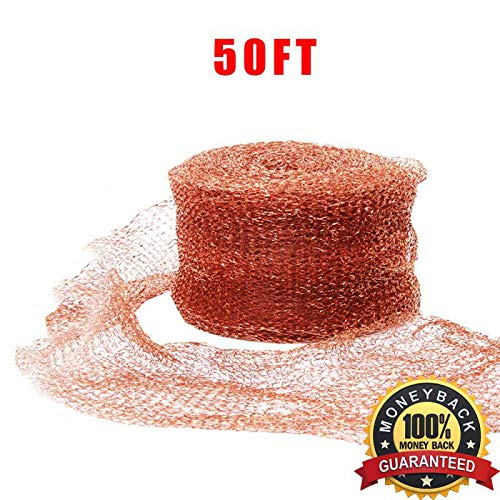 "Haierc 5"" X50FT Copper Mesh DIY Pure Coper Fill Fabric 100% Copper Roll"