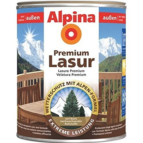 ALPINA Premium Lasur, 2,5L Holz Dickschichtlasur außen, Farblos