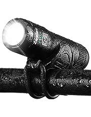 自転車ライト Zeelec USB充電式 自転車ヘッドライト 高輝度 IPX6 防水 防振 アルミ合金製 ロードバイク ライト 5モード点灯 懐中電灯兼用