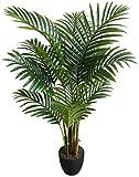 Seidenblumen Roß Hawaiipalme 90cm DA künstliche Zimmerpalme Palmen Kunstpalmen Kunstpflanzen