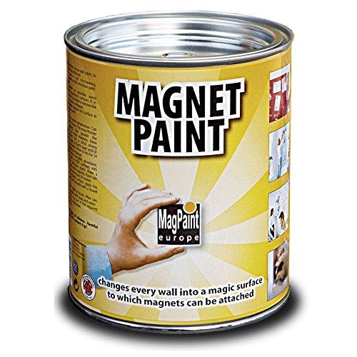 First4magnets MAG0001 MagPaint Peinture magnétique 0,5 L, Gris foncé