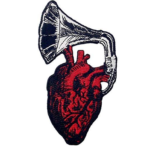 Aufnäher, bestickt, Design: Lass mein Herz gehört werden, zum Aufbügeln oder Aufnähen