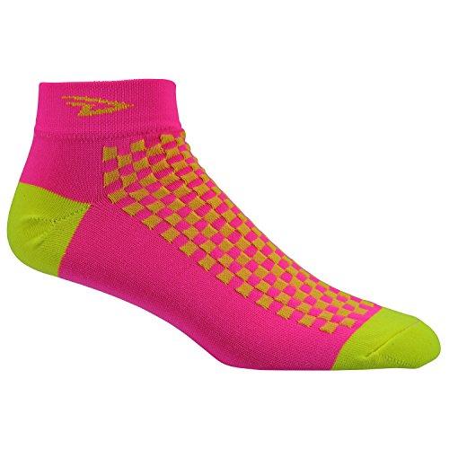 Defeet Socken Speede Medium Hi-Vis Pink/Hi-Vis Yellow