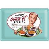 signs-unique na Cartel de Chapa Retro Kellogg's Quick K Menu – Idea de Regalo para la Cocina, metálico, Diseño Vintage para decoración Pared, 20x30x0.2 cm