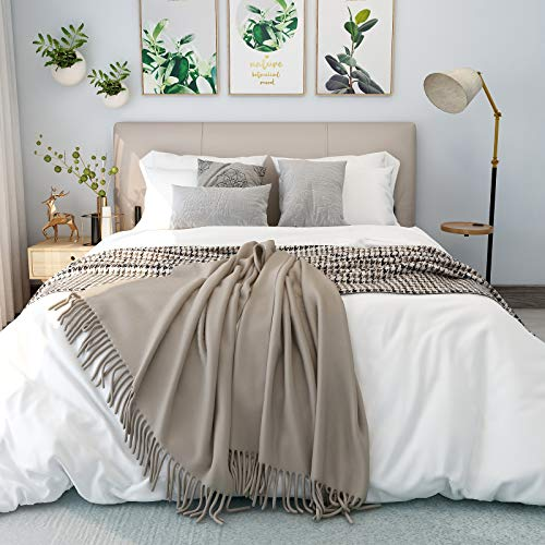 SUNNEEHOME Duvet Cover Sets 3 Pieces, Zipper Closure Soft Microfiber Comforter Cover, White (King Size)