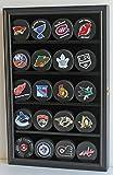 20 Hockey Puck Display Case Cabinet Holder Wall Rack 98% UV Protection (Black Finish)