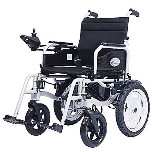 Yeeseu Silla médica de rehabilitación, sillas de ruedas, sillas de ruedas eléctricas eléctrica inteligente, ligero plegable, soporta 100Kg, Sillas de ruedas motorizada Conveniente for el hogar, Travle