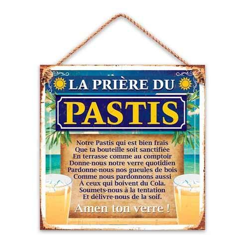 La plaque murale pour fan de Ricard et pastis