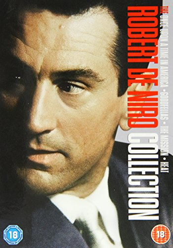 Robert De Niro Boxset - Once Upon A Time In America / Heat / Goodfellas / Mission [DVD]