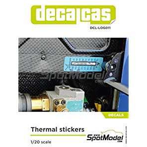 スポットモデル デカールキャス 1/20 サーマルステッカー プラモデル用デカール DCL-LOG011