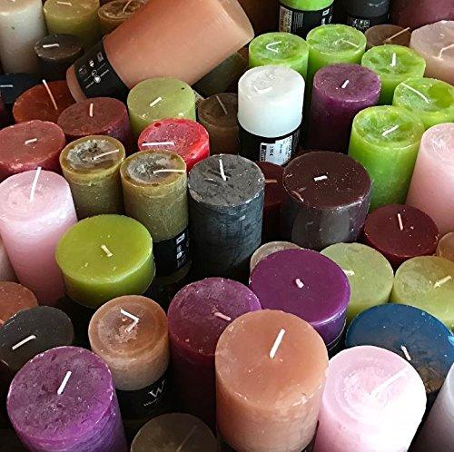 3 KG durchgefärbte Rustic Kerzen A-Ware, Markenkerzen aus dt. Produktion, Restposten