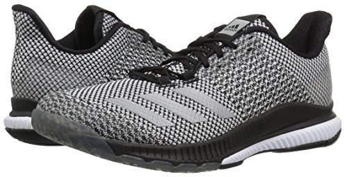 adidas Women's Crazyflight Bounce 2 Volleyball Shoe, Black/Silver Metallic/White, 8.5 M US