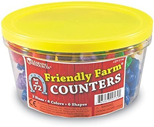 tienda en linea Learning Learning Learning Resources Friendly Farm Animal Counters (72 Pc) by Learning Resources  precio mas barato