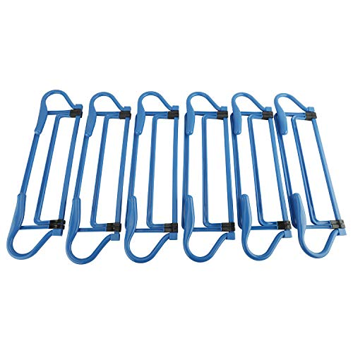 "XMSound Adjustable Hurdle Set for Agility Speed Training, Foldable for Jumping, Racing, Obstacle Courses, PE Classes,Soccer,Track & Field & More, Heights 6""-15"" Inch, Set of 6 (Blue)"