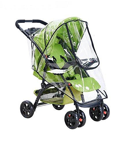 Fontee Baby Universal Regenschutz für Buggy und Sportwagen gute Luftzirkulation, verschließbares Kontakt-Fenster, einfache Montage an jedem Kinderwagen, PVC-frei