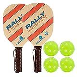 Rally Meister Wood Pickleball Paddle Bundle