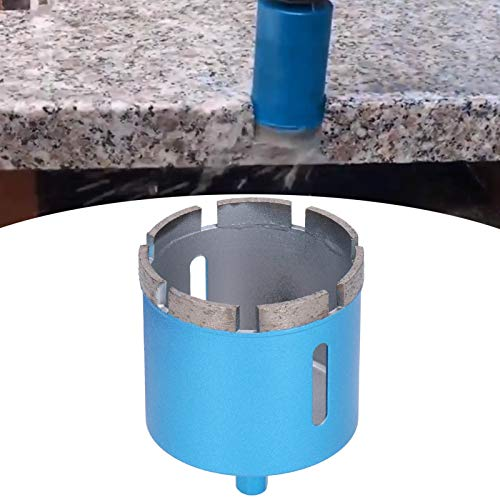 Herramienta de corte de mármol Taladro eléctrico manual Broca de diamante Dureza fuerte Alta eficiencia Azul para mármol Hormigón Cerámica 3 varios tamaños(65mm)