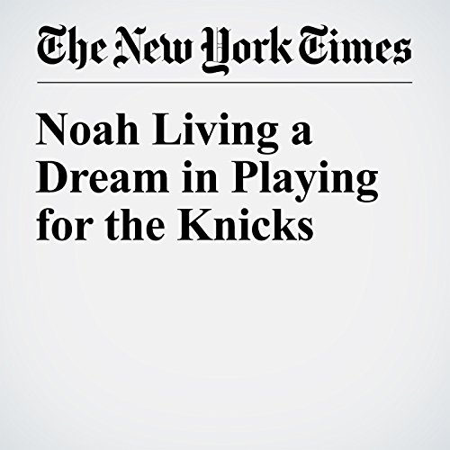 Noah Living a Dream in Playing for the Knicks audiobook cover art