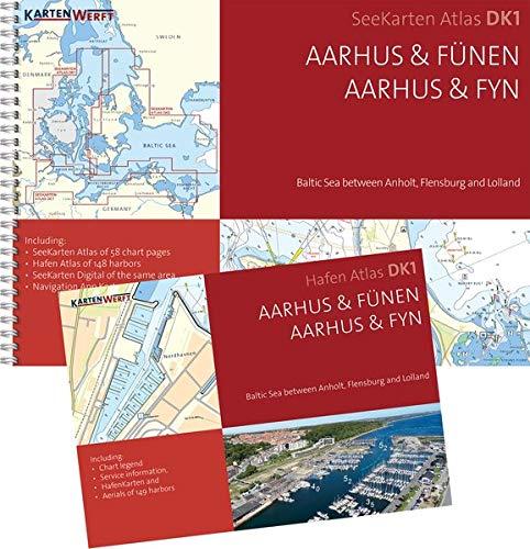 SeeKarten Atlas DK1 | Aarhus & Fünen: Westliche Ostsee zwischen Anholt, Flensburg und Lolland
