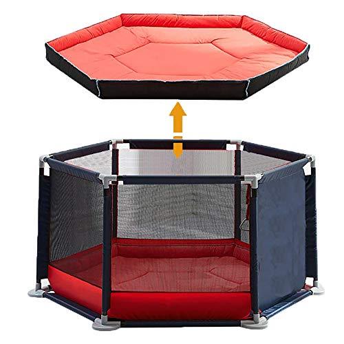 Star Ibaby Parc de bébé ultra léger Oxford avec tapis doux – Design antidérapant – Bleu marine