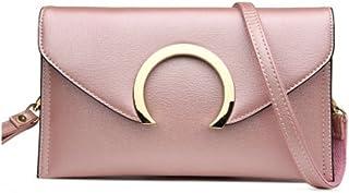 Evening Envelope Wristlet Leather Clutch Purse Crossbody Bag for Women