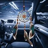 KERIQI Mini Dream Catcher Car Mirror Accessories Hanging Decor Car Interior Rearview Dream Catcher, Handmade Small Boho Car Charms Pendant Accessories, 2.7 x 13 Inches (Mini Dream Catcher)