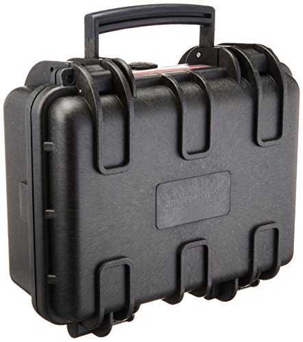 AmazonBasics Small Hard Camera Carrying Case  12 x 11 x 6 Inches Black