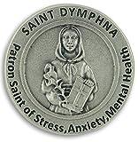St.Dymphna Pocket Token Coin 1.2' with Prayer Catholic Patron Stress Anxiety Mental Health