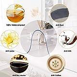 ybaymy Transparente Tischdecke Folie 1 x 2m, 2 mm Dicker Tischschutz für den Esstisch, durchsichtiger Tischdeckenschutz aus Kunststoff, Durchsichtige Tischdecken-Tischunterlage - 2
