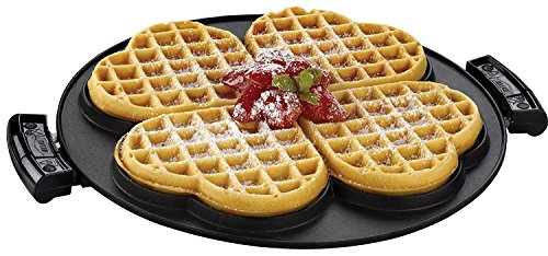 George Foreman Grp106wp 2 Removable Nonstick Heart-shaped Waffle Plates, Black,