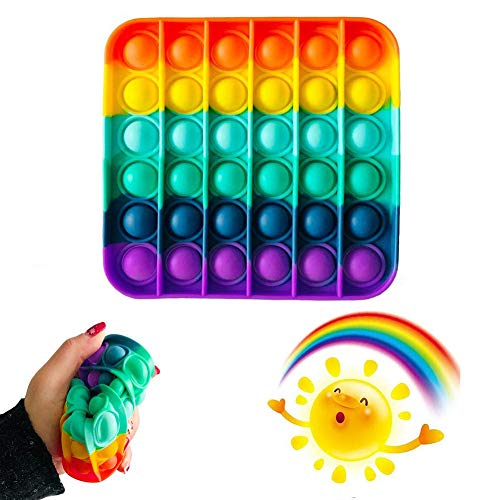 MAITING Gadgets Push Bubble Toys, Stress Relief and Anti-Anxiety Tools for Children and Adults, Autistic Toys That Have Special Needs to Relieve Stress (Square Color)