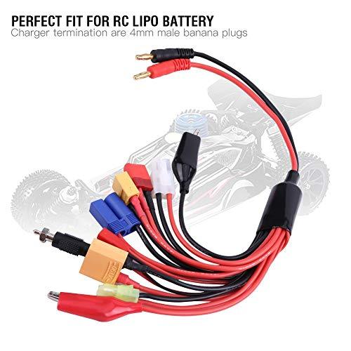 11 in 1 RC Batterieladekabel, RC Lipo Batterie Multi Ladegerät Stecker Adapter Konverter Ladekabel für XT60/ XT90/ Ultra T-Plug/ EC3/ JST/ Tamiya großer&Kleiner Stecker/ J-Kopf/ Klemmen