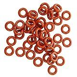 SODIAL(R) 50 pezzi Rosso silicone O Ring Tenuta Rondelle 8mm x 4mm x 2mm...